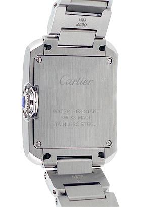 カルティエ W5310022 レディース タンクアングレーズ SM SS シルバー文字盤 クォーツ ブレスレット