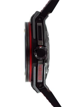 【世界限定1,000本】 ウブロ 401.CX.0123.VR ビッグバン フェラーリ オールブラック セラミック スケルトン文字盤 自動巻き ラバー/レザー