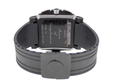 フランクミュラー 10900 CC DT GPG コンキスタドール コルテス グランプリ クロノグラフ TI 白インデックス 黒文字盤 自動巻き ラバー