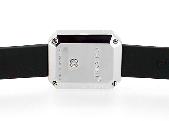 【中古】シャネル H2434 プルミエール ダイヤモンドベゼル SS 黒文字盤 クォーツ ラバー