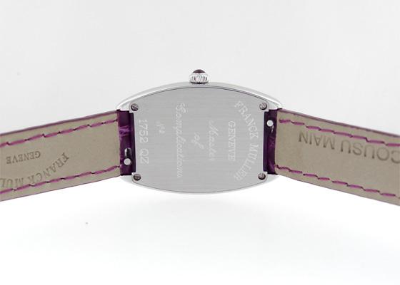 フランクミュラー 1752QZ レディース トノーカーベックス SS ピンク文字盤 クォーツ レザー