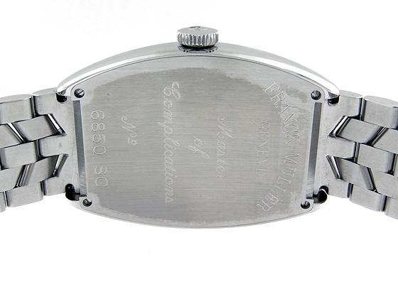 フランクミュラー 6850SC トノーカーベックス プラチナローター SS 黒文字盤 自動巻き ブレスレット