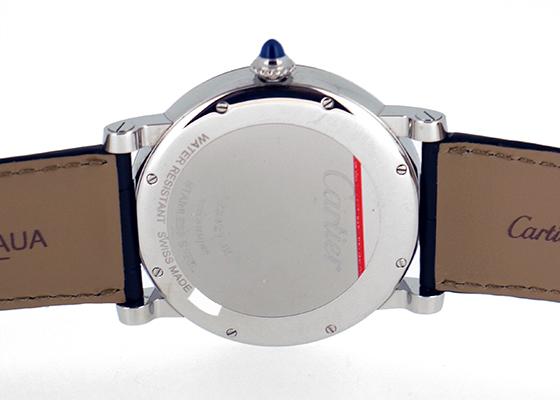 【お取り寄せ可能】カルティエ W1556369 ロトンド パワーリザーブ SS シルバー文字盤 手巻き レザー