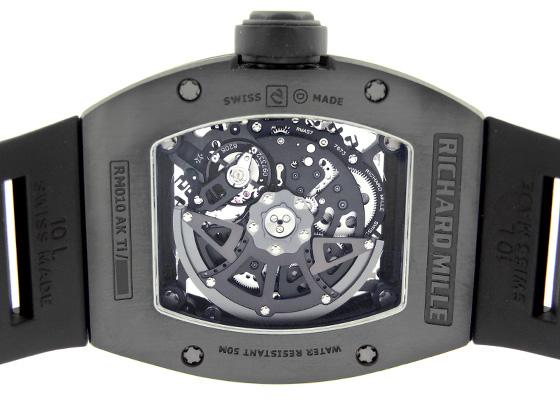 【中古】リシャールミル RM010 オートマティック Japan Limited Edition DLC スケルトン文字盤 自動巻き ラバー