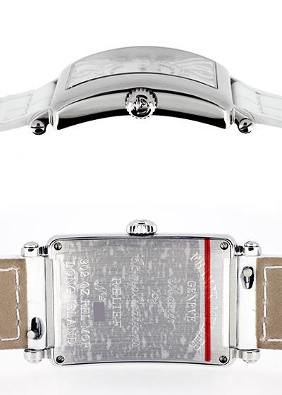フランクミュラー 902QZ REL MOP レディース ロングアイランド レリーフ  SS シェル文字盤 クォーツ レザー ホワイト