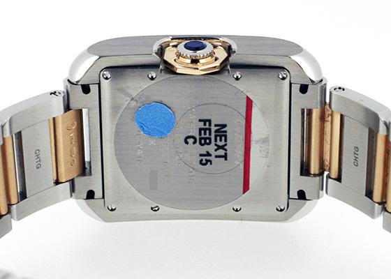 カルティエ W5310037 レディース タンク アングレーズ LM PG&SS シルバー文字盤 自動巻き ブレスレット