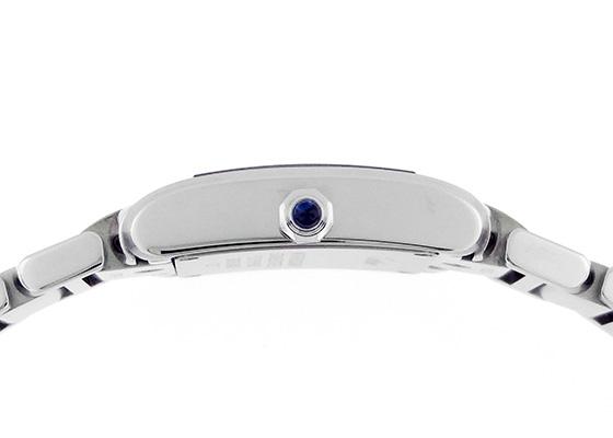 カルティエ WE110006 レディース タンクフランセーズ SM SS シルバー/11Pダイヤ文字盤 クォーツ ブレスレット