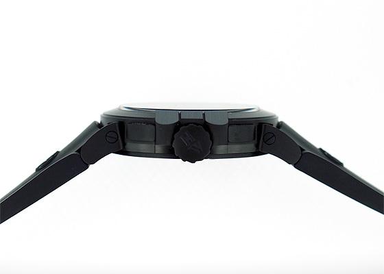 ハリーウィンストン OCEATZ44ZZ007 オーシャン デュアルタイム ブラックエディション ザリウム(DLC) 黒文字盤 自動巻き ラバー