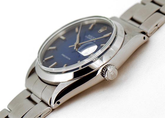 【ヴィンテージ】ロレックス 6694 オイスター デイト プレシジョン 60年代 SS 青文字盤 手巻き ブレスレット