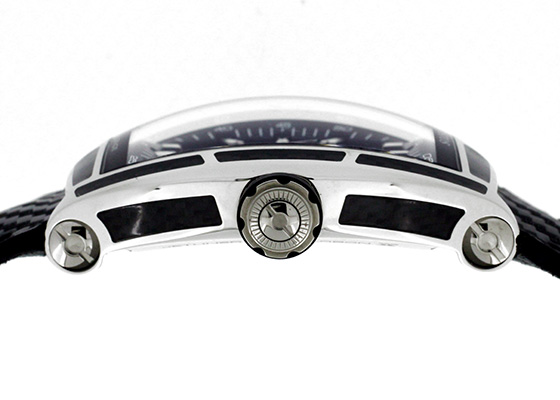 クストス CVT-JET-CARBON-ST チャレンジ ジェットライナー カーボン SS スケルトン文字盤 自動巻き カーボンファブリック