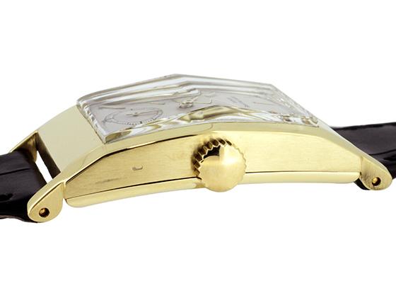 【ビンテージ】パテックフィリップ 425J レクタンギュラー YG シルバー文字盤 手巻き レザー