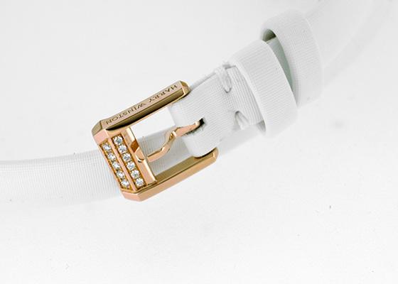 ハリーウィンストン EMEQHM18RR001 レディース エメラルド RG ホワイト文字盤 クォーツ サテン