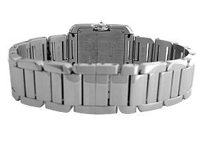 カルティエ WT100008 レディース タンク アングレーズ SM ケースサイドダイヤモンド WG シルバー文字盤 クォーツ ブレスレット