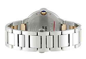 カルティエ W2BB0022 バロンブルー LM YG&SS シルバー文字盤 ブレスレット