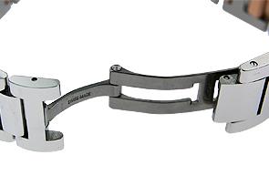 カルティエ W3BB0018 ボーイズ バロンブルー MM PG&SS シルバー文字盤 自動巻き ブレスレット