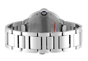 カルティエ W6920046 バロンブルー MM SS シルバー文字盤 自動巻き ブレスレット