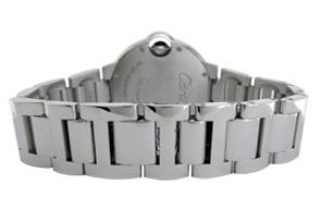 カルティエ WJBB0008 ボーイズ バロンブルー MM ベゼルダイヤモンド WG シルバー文字盤 自動巻き ブレスレット