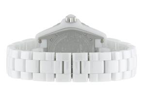 シャネル H0969 J12 38mm ダイヤモンドベゼル ホワイトセラミック 白文字盤 ブレスレット