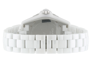 シャネル H2013 J12 42mm ダイヤモンドベゼル 白セラミック 白文字盤/12Pダイヤモンド ブレスレット