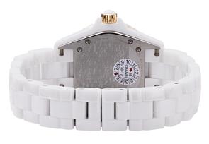 シャネル H2181 レディース J12 33mm PGベゼル 白セラミック 白文字盤/11Pダイヤモンド クォーツ ブレスレット