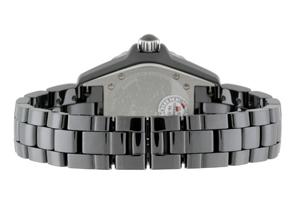 シャネル H0949 レディース J12 33mm ダイヤモンドベゼル 黒セラミック 黒文字盤 クォーツ ブレスレット