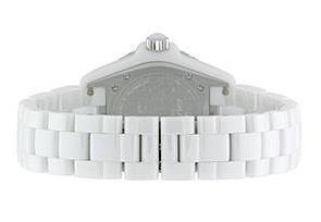 シャネル H1629 J12 38mm 白セラミック 白文字盤/12Pダイヤモンド/シルバー針 ブレスレット