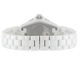 シャネル H2423 J12 38mm 白セラミック 白シェル文字盤/8Pダイヤモンド 自動巻き ブレスレット