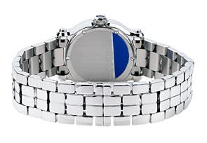 ショパール 27/8509-3006 レディース ハッピースポーツ マークII ラウンド SS 白シェル文字盤/5Pダイヤモンド クォーツ ブレスレット
