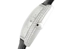 フランクミュラー 5850CHD クレイジーアワーズ ダイヤモンド 18KWG シルバー文字盤 レザー