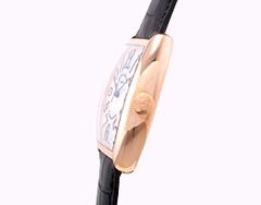 フランクミュラー 5850SC メンズ トノーカーベックス PG シルバー レザー