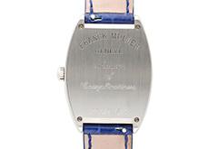 フランクミュラー 7502QZ レディース トノーカーベックス SS ブルー文字盤 クォーツ レザー