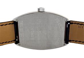 フランクミュラー 7851SCDT VIN トノーカーベックス ヴィンテージ SS 白文字盤 自動巻き レザー