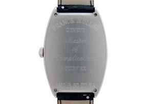 フランクミュラー 6850BSCDT VA トノーカーベックス プラチナローター SS シルバー文字盤 自動巻き レザー