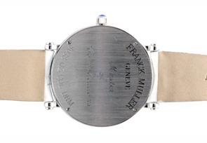 フランクミュラー 8038QZ COLDRM   ロンド  カラードリーム SS シルバー文字盤 クォーツ レザー