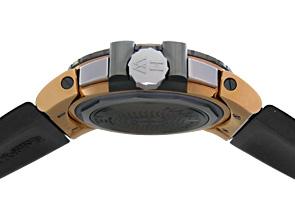 ハリーウィンストン OCEACH44RZ005 オーシャン ダイバー クロノグラフ ザリウム&RG 黒文字盤 自動巻き ラバー