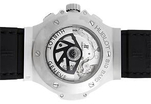 ウブロ 301.SX.1170.GR.1104 ビッグバン スチールダイヤモンド SS 黒文字盤 自動巻き ラバーアリゲーター