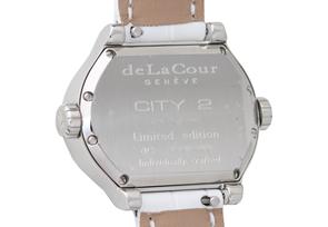ドゥラクール WAST1901-0777W レディース シティ2 SS シェル文字盤 ダイヤモンドベゼル クォーツ レザー