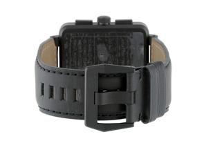 ベル&ロス BR01-94CFB-CA ブラックコーティング クロノグラフ 46mm PVD(SS) 黒文字盤 レザー