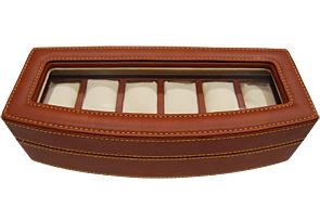 リボルバー CL-6 コレクションボックス 6本収納 ブラウン レザー(合皮)