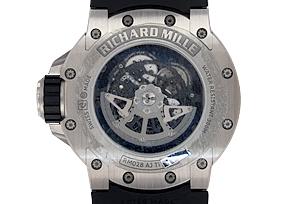 リシャール ミル RM028 オートマティック ダイバーズ TI スケルトン 自動巻き ラバー
