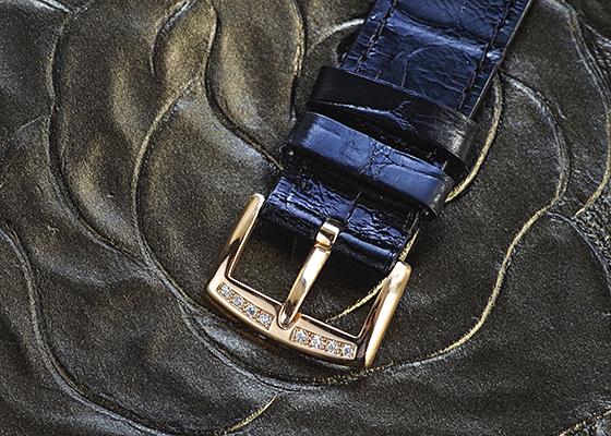 フランクミュラー 902QZD レディース ロングアイランド ダイヤモンドベゼル PG シルバー クォーツ レザー