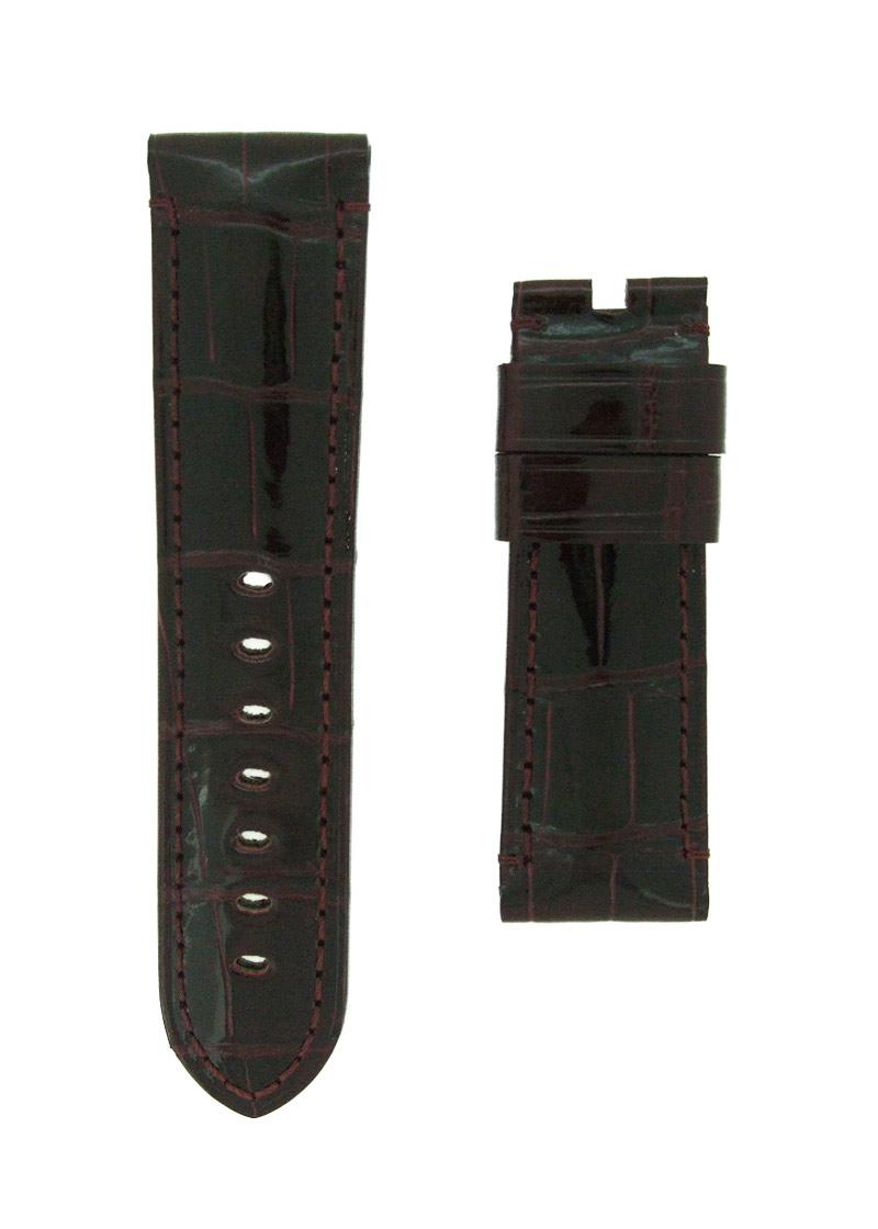 オフィチーネパネライ レザーストラップ ルミノール 44mm用 クロコダイル ボルドー(艶有) 24-22mm