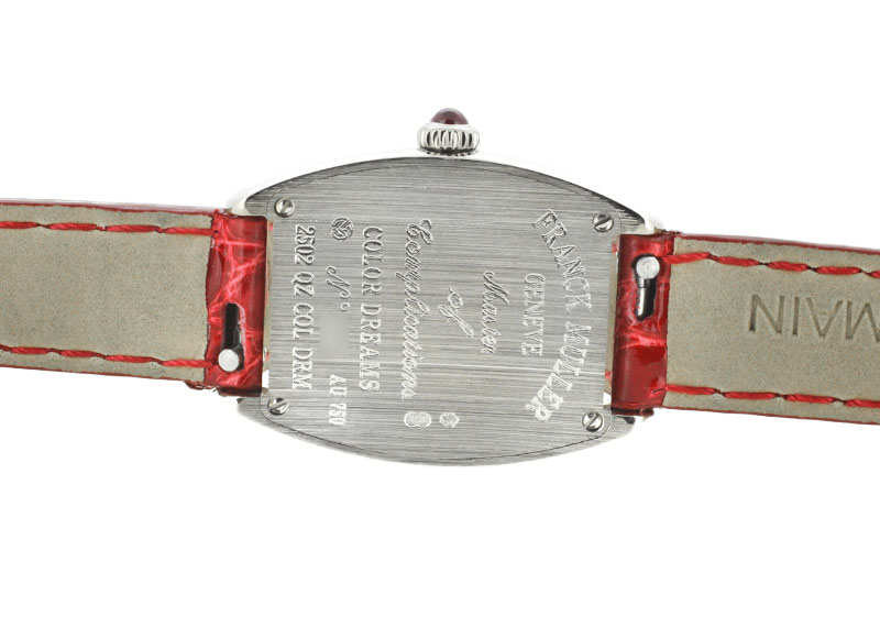 【即日ご注文可】フランクミュラー 2502QZ COL トノーカーベックス カラードリーム WG シルバー文字盤 クォーツ レザー