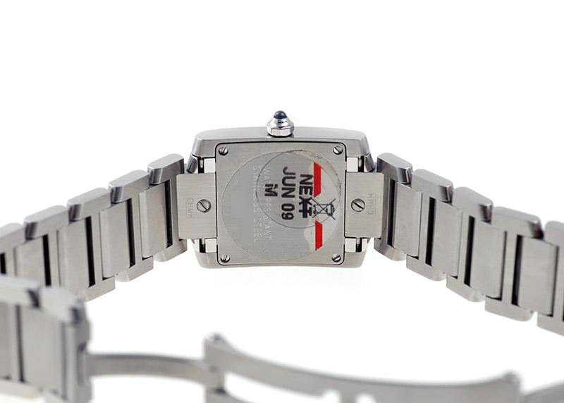 【中古】カルティエ W51008Q3 タンクフランセーズ SM SS ホワイト文字盤 クォーツ ブレスレット