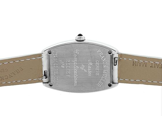 フランクミュラー 1752QZ REL CD1R レディース トノーカーベックス レリーフ ダイヤモンド SS シルバー文字盤 クォーツ レザー