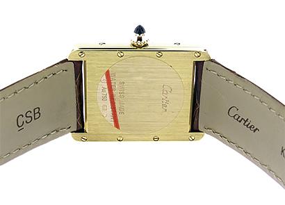カルティエ W1529756 レディース タンク ルイ カルティエ LM YG 白文字盤 クォーツ レザー