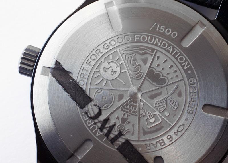 IWC IW324703 パイロットウォッチ マークXVIII ローレウス・スポーツ・フォー・グッド 1500本限定 CE/TI ブルー文字盤 自動巻き ナイロン/レザー