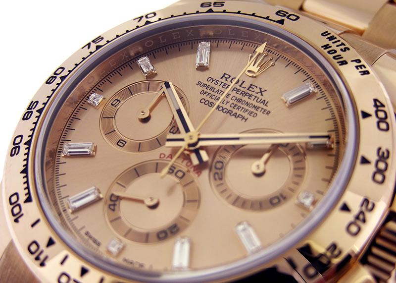 【中古】ロレックス 116505A オイスターパーペチュアル コスモグラフデイトナ RG ピンク文字盤 自動巻き ブレスレット
