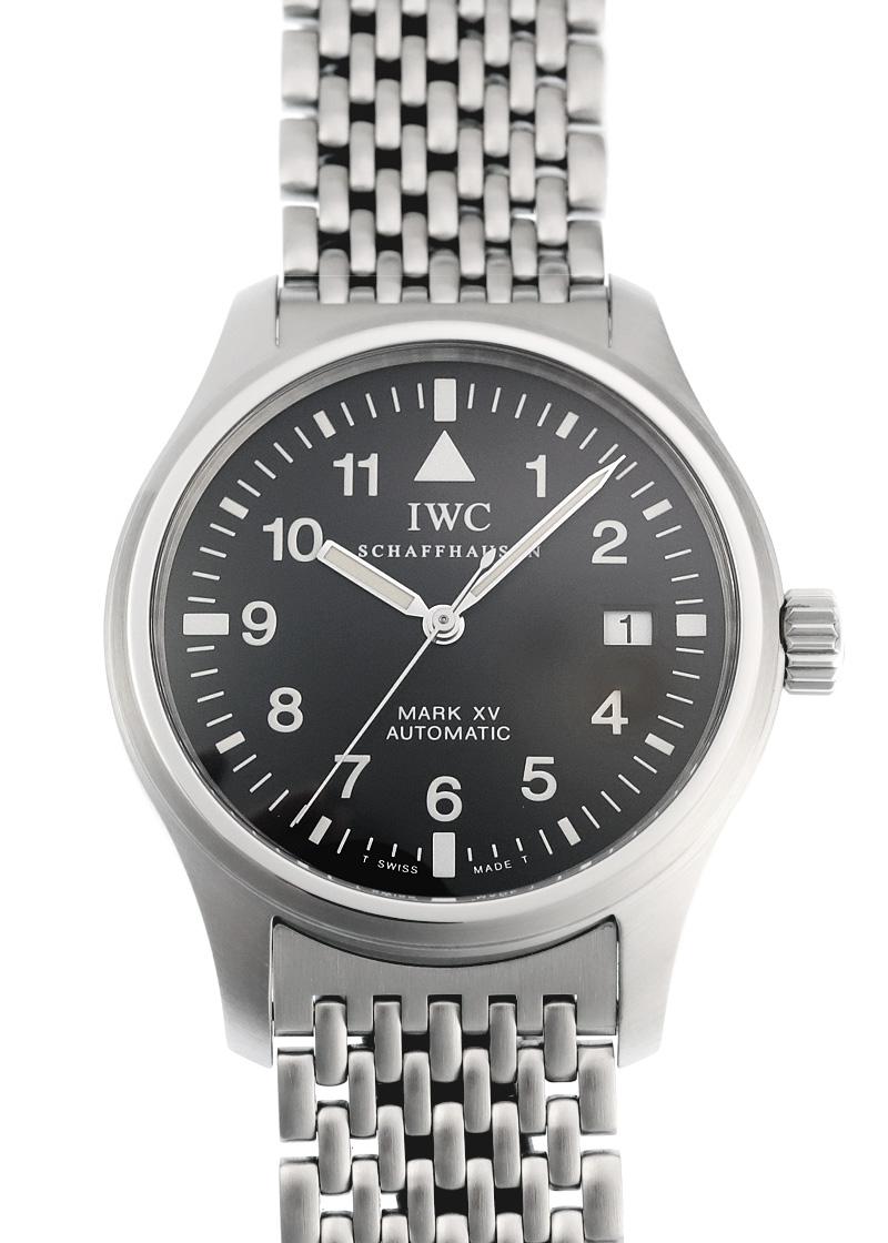 【中古】IWC IW3253 マーク XV SS 黒文字盤 自動巻き ブレスレット