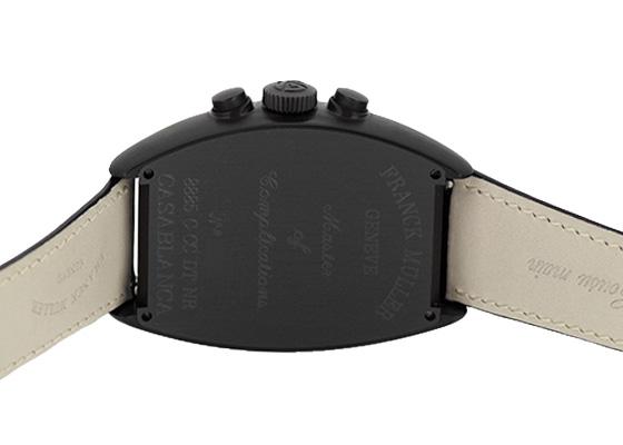 フランクミュラー 8885CCCDT NR カサブランカ ノアール SS(PVD) 黒文字盤 自動巻き レザー